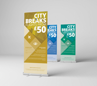 Route One Print | Standard Roller Banners Banners and Pop-Ups